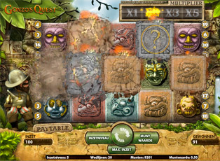 Video slot Gonzo's Quest met Avalanche functie